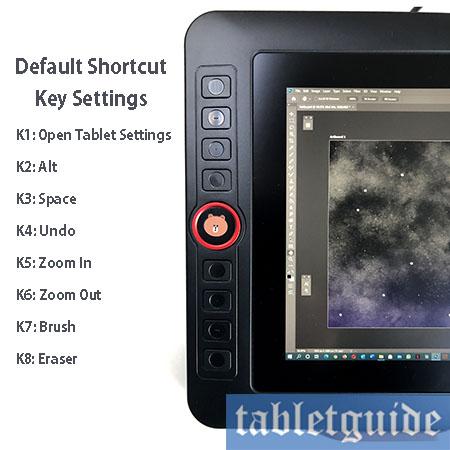 xp-pen artist 12 pro shortcut keys
