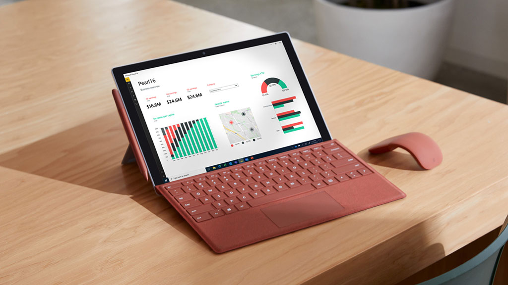 microsoft surface pro 7 plus with keyboard