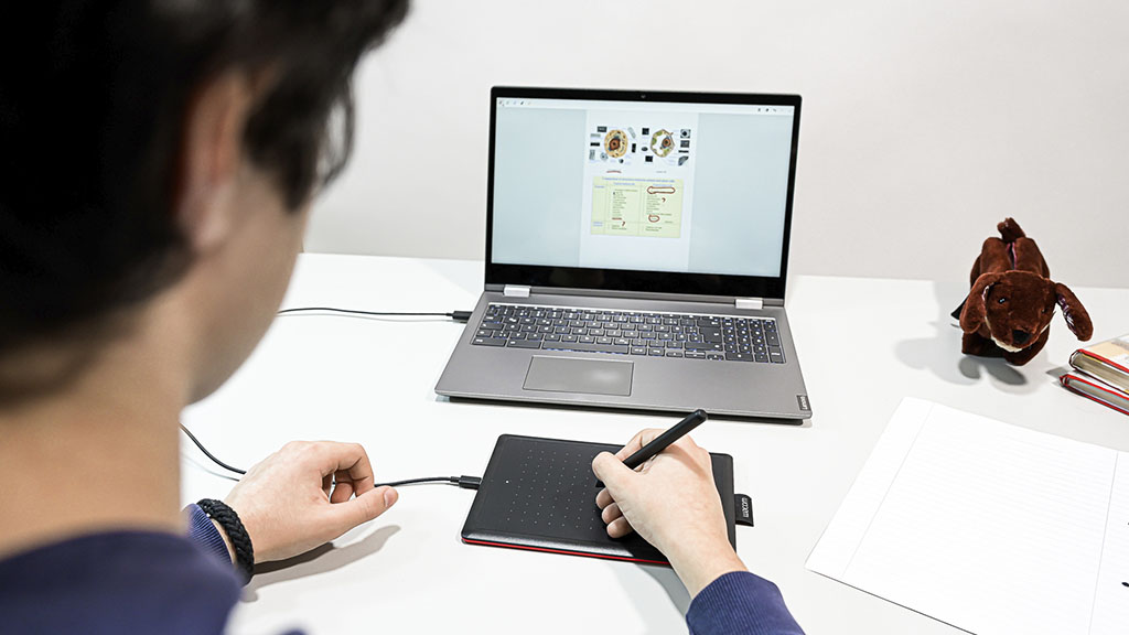 one by wacom in use with chromebook