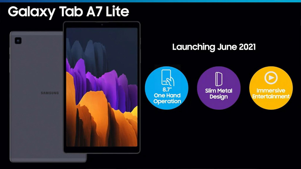 samsung to launch galaxy tab a7 lite in june 2021