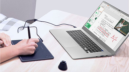 huion tablet connected with chromebook