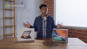 microsoft compares surface pro 7 with ipad pro in new video
