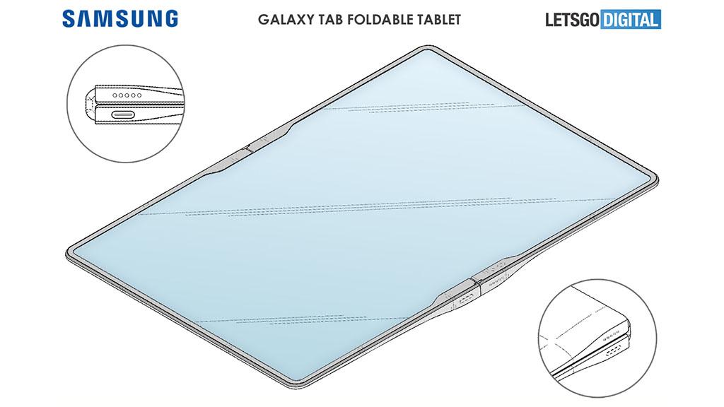 samsung foldable tablet 2021 hinge design