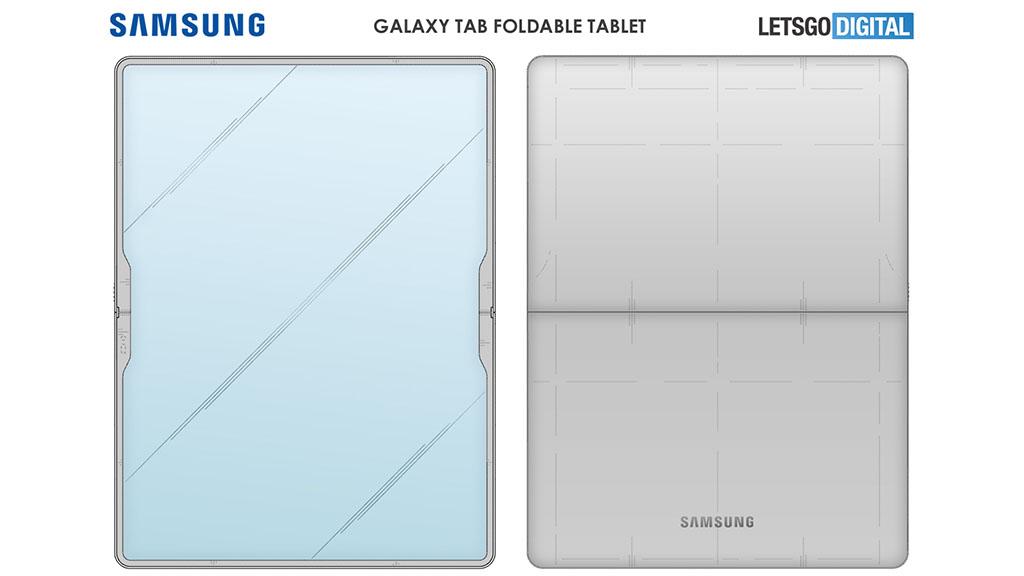 samsung foldable tablet 2021 patent design front