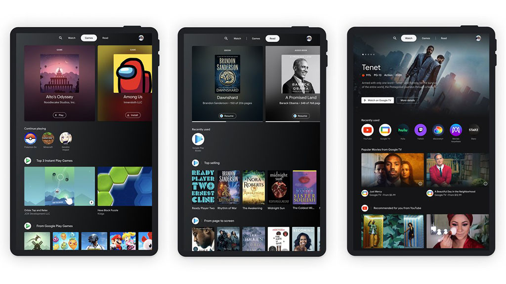 entertainment space for android tablets