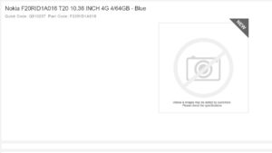 nokia t20 listed on retail website