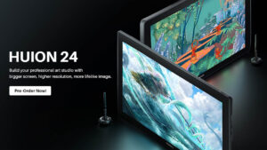 huion launches 3 new 24inch pen displays