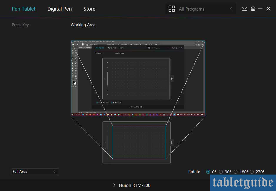 huion rtm500 software drivers mapping