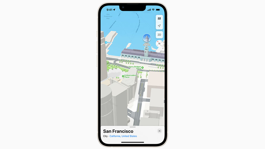 highly detailed apple maps