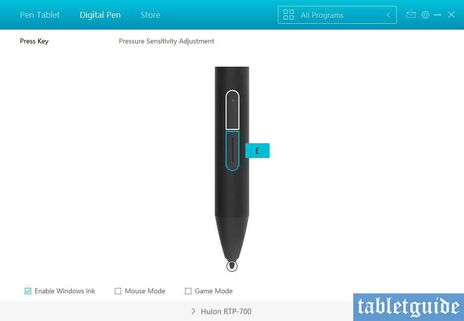 huion rtp700 driver software pen