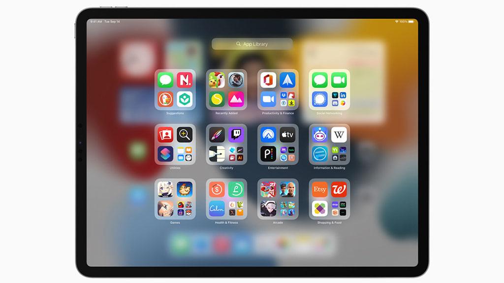 ipados15 app library