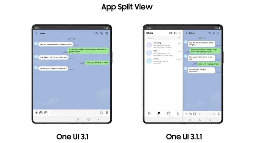 one ui 3.1.1 app split view