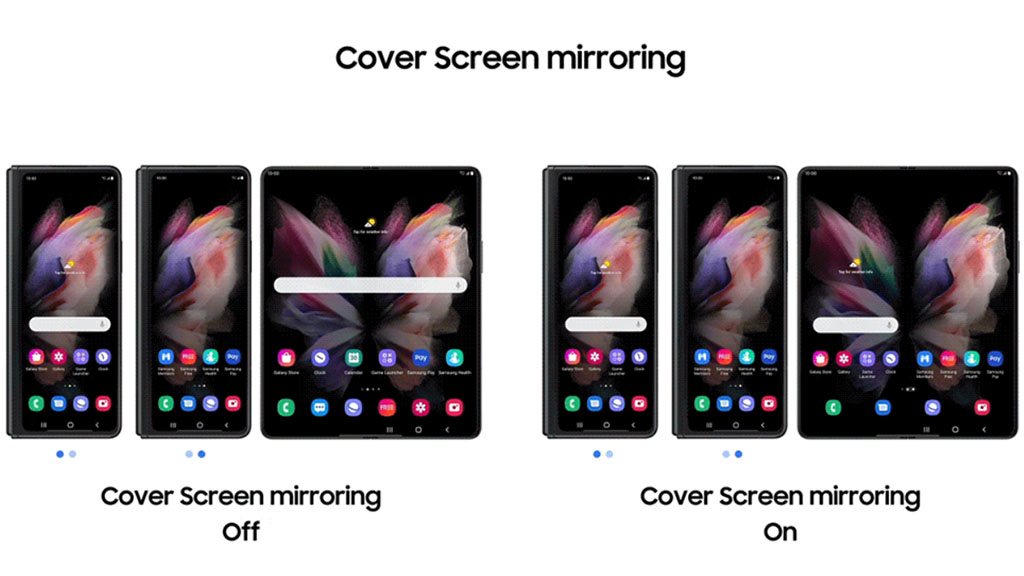 one ui 3.1.1 cover screen mirroring